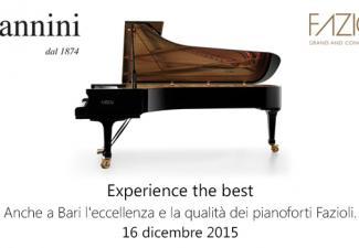 Fazioli a Bari con Giannini pianoforti