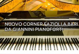Nuovo corner Fazioli a Bari da Giannini pianoforti